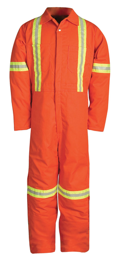 INSULATED WORK COVERALL W/REFLECTIVE TAPE