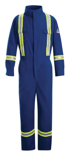 WORK COVERALL W/ REFLECTIVE TAPE
